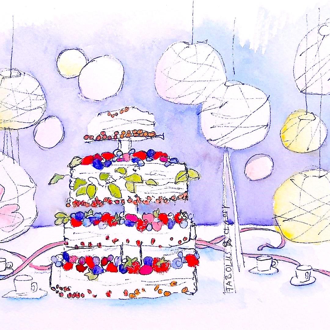 Urban Sketching - Eventzeichnen Hochzeit Dokumentation