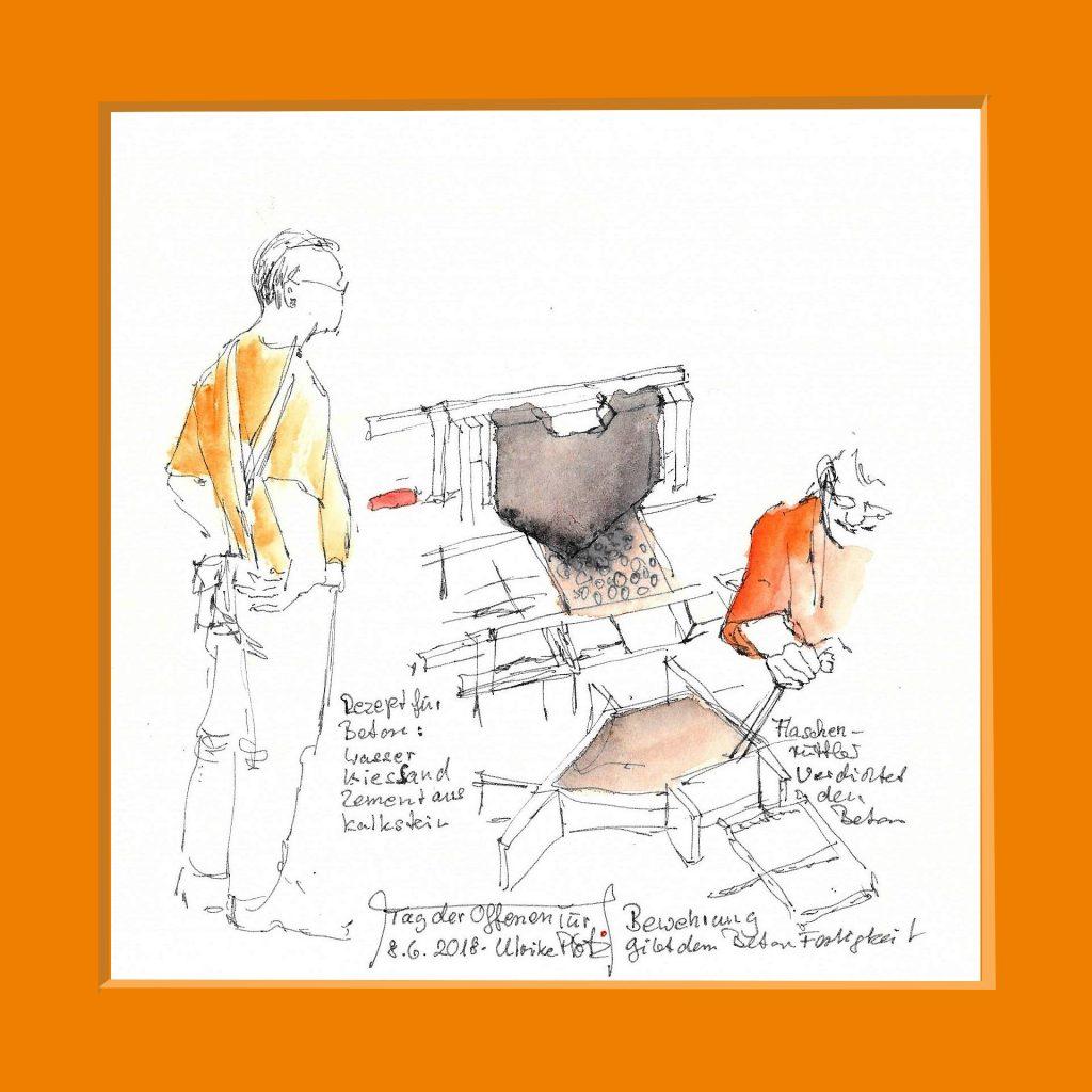Urban Sketching Arbeit Firma Schütt
