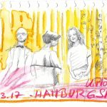 Urban Sketching Besucher des Presseballs