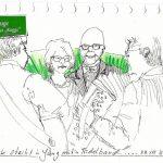 Urban Sketching Presseball Portraits