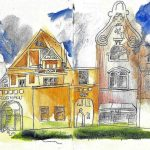 Urban Sketching Skyline Eutin