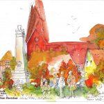 Urban Sketching nach Tine Klein
