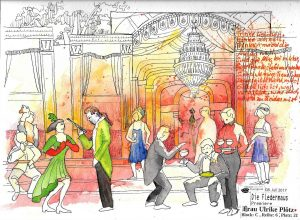 Urban Sketching Szene Die Fledermaus Festspiele Eutin