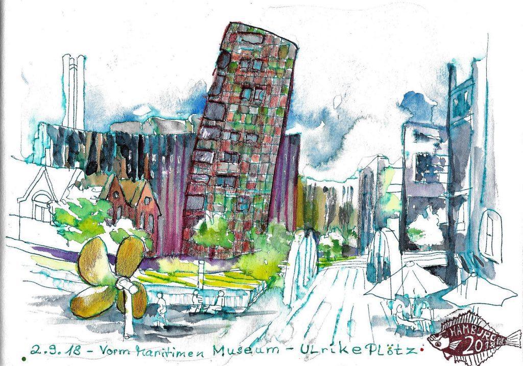Sketching Maritimes Museum Hamburg