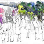 Urban Sketching Party Atmosphäre