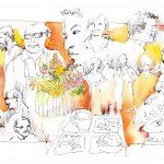 Urban Sketching Gäste Portraits