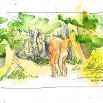 Urban Sketching Wald