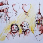 Urban Sketching Hochzeit dokumentieren