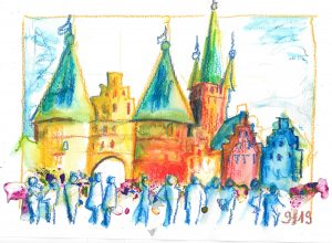 Sketchwalk Lübeck Holstentor