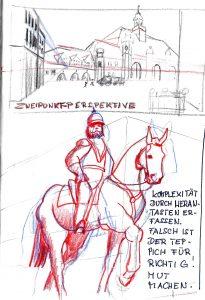 Sketchwalk Lübeck Reiter
